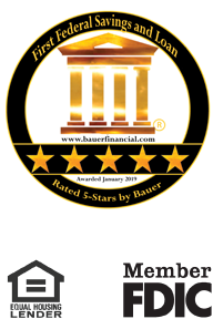 Rated 5 Stars by Bauer.  Equal Housing Lender.  Member FDIC
